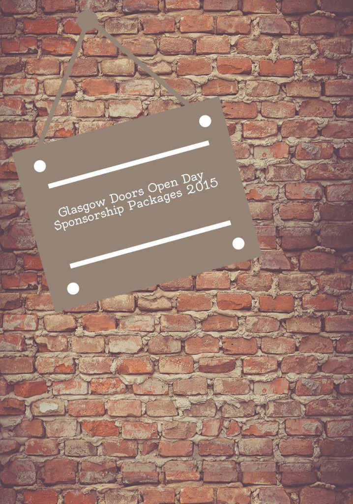 Glasgow Doors Open Day 2015 Sponsorship Packages Front Cover